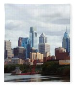 City Of Philadelphia Fleece Blanket