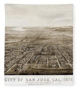 City Of San Jose County Of Santa Clara 1875 Fleece Blanket