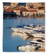City Of Split In Croatia Fleece Blanket