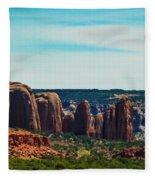 City Of Stones  Fleece Blanket