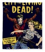 City Of The Living Dead Comic Book Poster Fleece Blanket