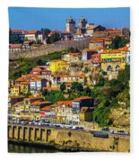 City On A Hillside Fleece Blanket