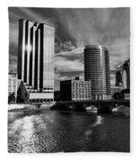 City On The Grand Fleece Blanket
