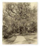 City Park New Orleans - Sepia Fleece Blanket