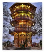 City Park Pagoda Fleece Blanket