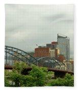 City - Pittsburgh Pa - The Grand City Of Pittsburg Fleece Blanket