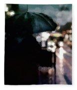 City Rain Fleece Blanket by Susan Maxwell Schmidt