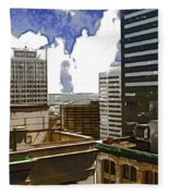 City Skies Fleece Blanket