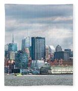 City - Skyline - Hoboken Nj - The Ever Changing Skyline Fleece Blanket