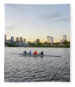 City Skyline - Philadelphia On The Schuylkill River Fleece Blanket