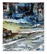 City Snow Melts Fleece Blanket