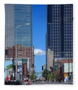 City Street Canyon Fleece Blanket