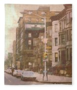 City Streets In Grunge 2 Fleece Blanket