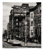 City Streets In Grunge Fleece Blanket