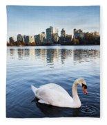 City Swan Fleece Blanket