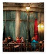 City - Vegas - Paris - The Outdoor Cafe  Fleece Blanket