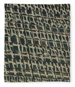 City Windows Abstract Fleece Blanket