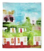 Ciudad 4 Fleece Blanket