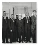 Civil Rights Leaders And President Kennedy 1963 Fleece Blanket