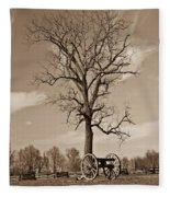 Civil War Cannon Fleece Blanket