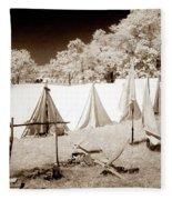 Civil War Encampment - Infrared Fleece Blanket