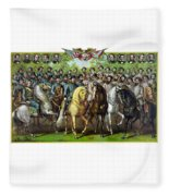 Civil War Generals And Statesman Fleece Blanket