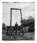 Civil War: Hanging, 1864 Fleece Blanket