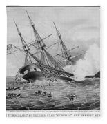 Civil War: Merrimac (1862) Fleece Blanket