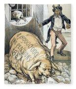 Civil War Pensions, 1888 Fleece Blanket