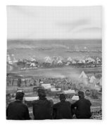 Civil War: Union Camp, 1862 Fleece Blanket