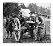 Civil War: Union Officers Fleece Blanket