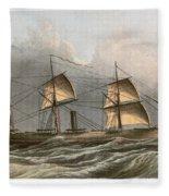 Civil War: Uss Kearsarge Fleece Blanket