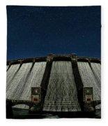 Claerwen Reservoir In Moonlight Fleece Blanket