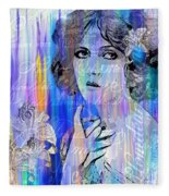 Clara Bow I'll See You In New York Fleece Blanket