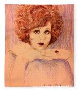 Clara, Redhead Fleece Blanket
