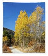 Claree Valley In Autumn - 11 - French Alps Fleece Blanket
