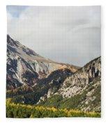 Claree Valley In Autumn - 12 - French Alps Fleece Blanket