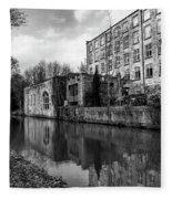 Clarence Mill, Bollington, England Fleece Blanket