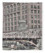 Clark Street Bridge Fleece Blanket
