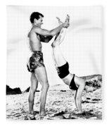 Clash By Night With Marilyn Monroe Fleece Blanket