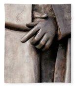 Clasped Hands - Sculpture Garden Nola Fleece Blanket