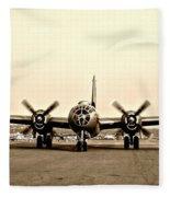 Classic B-29 Bomber Aircraft Fleece Blanket