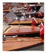 Classic Boats Fleece Blanket