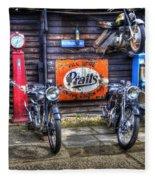 Classic British Bikes Fleece Blanket