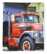 Classic Brockway Dump Truck Fleece Blanket