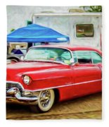 Classic Cadillac Fleece Blanket