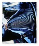 Classic Car Chrome Abstract Reflected Grill Fleece Blanket