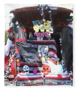Classic Car Decor Day Of The Dead  Fleece Blanket