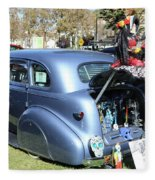 Classic Car Decorations Day Dead  Fleece Blanket
