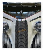 Classic Car Front End Fleece Blanket